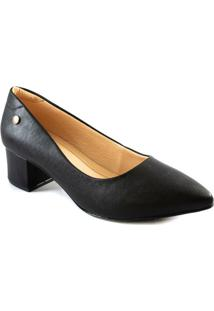 Scarpin Feminino Salto Bloco Via Uno All Day 461003