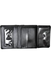 Carteira Couro Hendy Bag Menor Com Porta Notas - Masculino-Preto