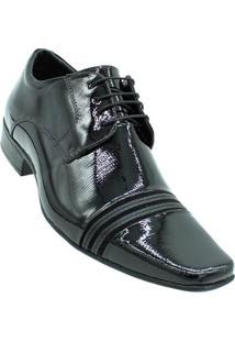 Sapato Social Jota Pê Technology Verniz Masculino - Masculino-Preto