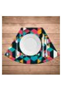Jogo Americano Para Mesa Redonda Wevans Polygonal Kit Com 4 Pçs