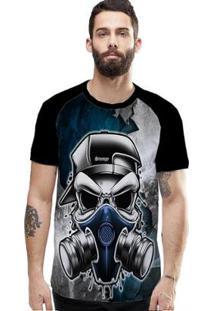 Camiseta Stompy Raglan Modelo 191 Masculina - Masculino-Preto