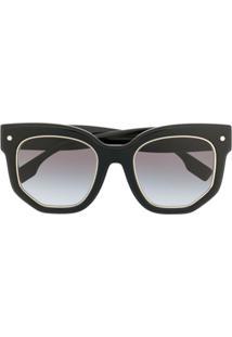 Burberry Eyewear Óculos De Sol Quadrado Oversized - Preto