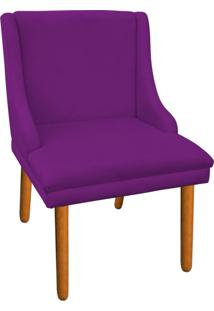 Cadeira Poltrona Decorativa Liz Suede Roxo - D'Rossi