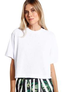 Camiseta John John Basic Malha Off White Feminina (Off White, Gg)
