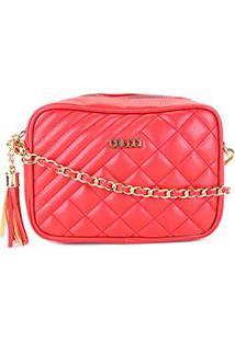 Bolsa Colcci Mini Bag Matelassê Alça Corrente Feminina - Feminino-Vermelho