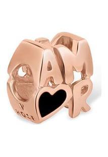 Pingente Life Amor Com Banho Ouro Rosé