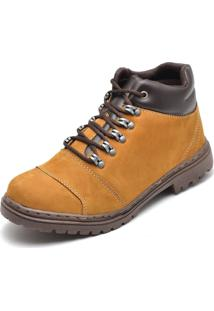 Bota Coturno Adventure Top Franca Shoes Amarelo