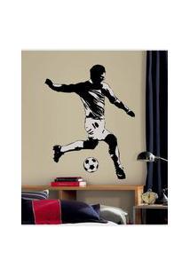 Adesivos De Parede Roommates Colorido Soccer Player Peel & Stick Giant Wall Decals