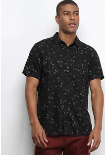 Camisa Cavalera Manga Curta Estampada Masculina - Masculino