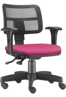 Cadeira Giratã³Ria Executiva Lyam Decor Zip Suede Rosa - Rosa - Dafiti