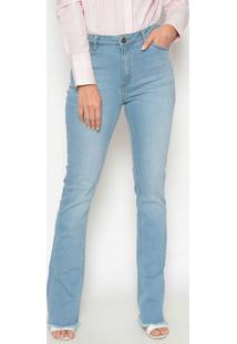 Jeans Bootcut Com Bordado - Azul Clarodudalina