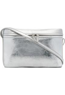 Calvin Klein 205W39Nyc Bolsa Transversal De Couro - Metálico
