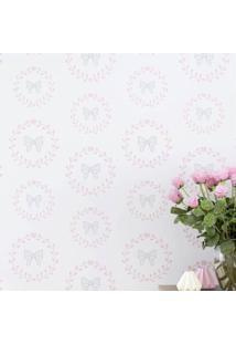 Papel De Parede Lacinhos Princesa Clã¡Ssica Grã£O De Gente Rosa - Rosa - Menina - Dafiti