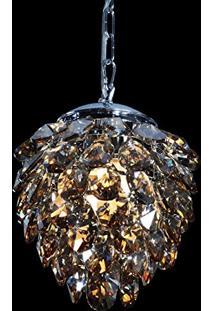Pendente Nut Cristal Ambar Hu2173A 23X28Cm 2G9