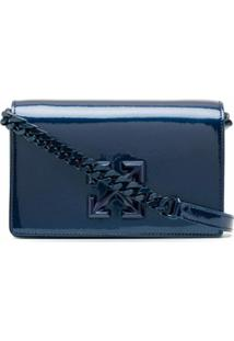 Off-White Signature Cross Crossbody Bag - Azul