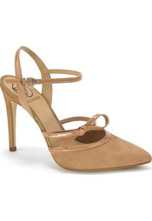 351aab17d2 ... Sapato Tradicional Em Couro Com Laço- Marrom- Salto Werner