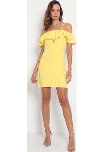 Vestido Ciganinha Com Vazado - Amarelo- My Favorite My Favorite Things