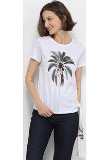 Camiseta Lez Lez Estampada Lenço Feminina - Feminino-Estampado
