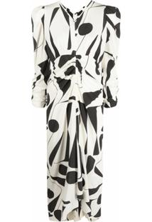 Isabel Marant Vestido Albi Com Estampa Abstrata - Neutro