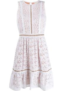 Michael Michael Kors Vestido Com Renda Floral - Branco