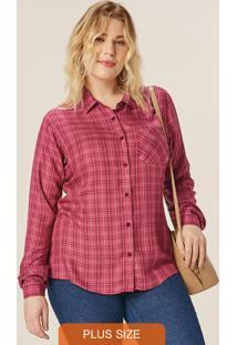 Camisa Vermelho Feminina Xadrez Flanelada