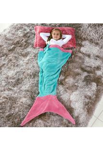 Cobertor Manta Infantil Saco De Dormir 1,40M X 60Cm - Sereia Tifany