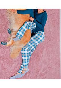 Pijama Adulto Longo Xadrez Lupo (24253-001) Algodão