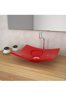 Cuba De Apoio Para Banheiro Compace Folha Bari F44W Vermelha