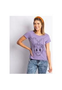 Blusa Feminina Disney Daisy Duck Lilás