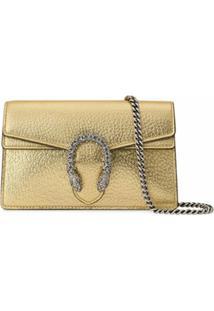 Gucci Bolsa Transversal Dionysus Mini - Dourado