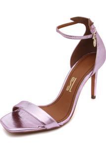 Sandália Santa Lolla Bico Quadrado Rosa