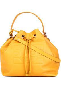 Bolsa Couro Jorge Bischoff Feminina - Feminino-Amarelo