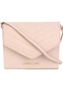 Bolsa Petite Jolie Mini Bag Hello Matelassê Feminina - Feminino-Nude