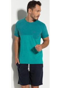 Camiseta Meia Malha Com Bolso Seeder Masculina - Masculino-Verde