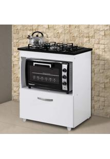 Balcão Para Cooktop E Forno 1 Gaveta Smart Siena Móveis Branco