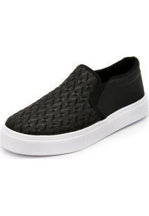 Sapatilha Slip On Ec Shoes Preto