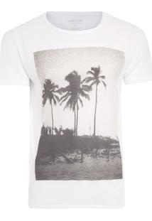 Camiseta Masculina Coqueiro Analógico - Branco