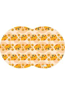 Tapete Pet Tigre Amarelo 55X35Cm