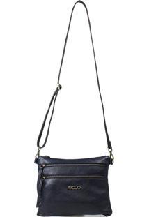 Bolsa Em Couro Recuo Fashion Bag Transversal Argo Azul