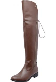 Bota Over Knee Mega Boots 978 Caramelo