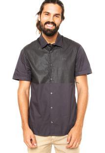 Camisa Calvin Klein Jeans Encerada Cinza
