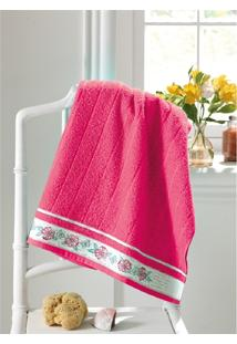 Toalha Banho Felpudo Jacquard Premium Fj6187 - Pink