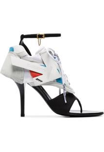 Off-White Sandália Branca, Preta E Azul - Preto