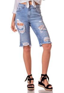 Bermuda Jeans Denim Zero Guys Com Rasgos