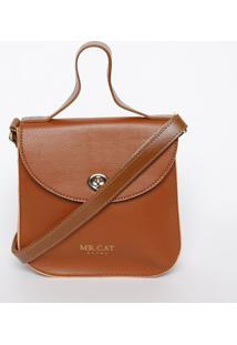 Bolsa Transversal Com Encaixe- Caramelo- 21X20X7Cmmr. Cat