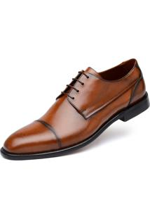 Derby Jacometti Cap Toe Damasco H05 - Marrom/Multicolorido - Masculino - Dafiti
