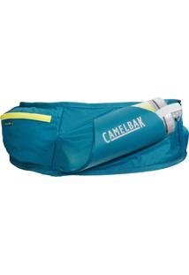 Pochete De Hidratação Camelbak Flash Belt Azul Com Garrafa Peak Chill