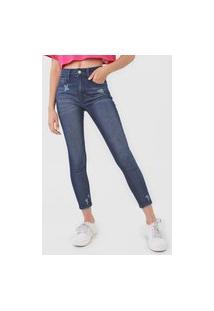 Calça Cropped Jeans John John Skinny Zamora Azul