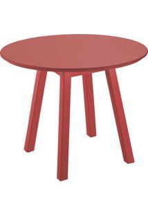 Mesa Lateral Oval Media Vermelho Tramontina