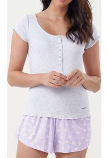 Pijama Feminino Cor Com Amor 12331 11397-Mescla-Cl